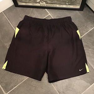 Nike Swim Trunks Mens Black & Yellow Short Med